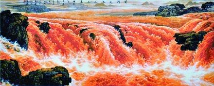 乔领作品《黄河之水天上来》