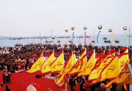 周戈庄场面盛大的开海仪式